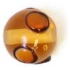 Glass Lamp Bead 10mm Smoke Topaz